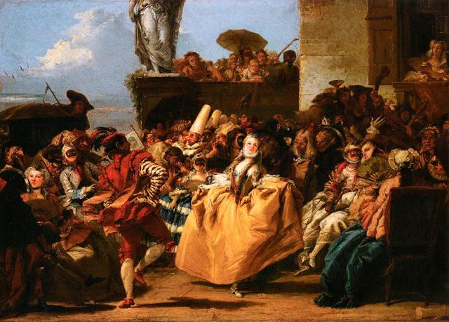 Giovanni Domenico Tiepolo Carnival Scene (The Minuet) (sec XVIII)_1